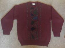 Gabicci Vintage Retro Maroon Wool Knit Jumper M Medium