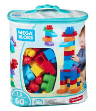 Mega Bloks 60 pcs Big Building Bag Blue