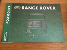 Range Rover Accessories Sales Brochure with Specifications Booklet 1999