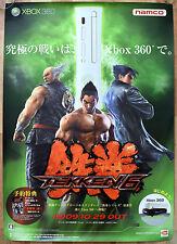 TEKKEN 6 RARA XBOX 360 51.5 CM x 73 cm giapponese PROMO POSTER