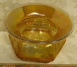 VTG. Depression Era Crackle Pattern Carnival  Ladies Spittoon Cuspidor  7 x 4