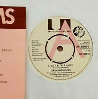 Groundhogs - Live a Little Lady UK 1976 Vinyl UNPLAYED. A label demo & Press kit
