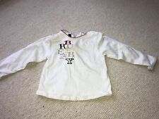 Burberry Girl's Top Age 2 Creamy White Long Sleeve