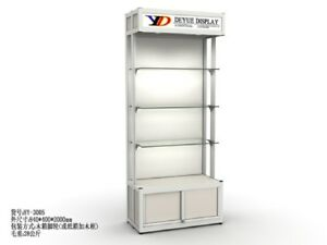 1X Glass Display Showcase Cabinet 84x40x200cm