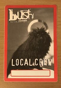 1996 BUSH RAZORBLADE SUITCASE TOUR CONCERT BACKSTAGE PASS LOCAL SIXTEEN STONE