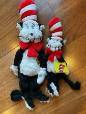"Pair of Cat in the Hat Plush 20"" and 13"" 2018 Dr. Seuss Manhattan Toy Company"