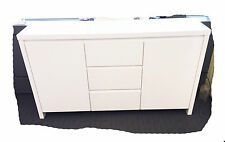 Bow-Wow 1500 White Hi Gloss 2 Door / 3 Drawer Buffet - BRAND NEW