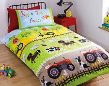 Apple Tree Farm Duvet Set Single Childrens Quilt Cover Bedding Bed Bedroom ***