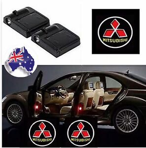 2pcs  Wireless Magnetic Car Door Logo Welcome Shadow Light Projector  Mitsubishi