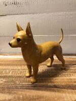 "Vintage Tan Chihuahua Dog Figurine Mortens Studio 5 1/2"" Figural Sculpture"