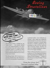 BOEING 307 STRATOLINER 1938 INTRODUCING UPPER LEVEL FLIGHT FOR COMFORT AD