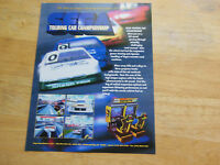 TOURING CAR SEGA     FLYER     arcade game ad  sh