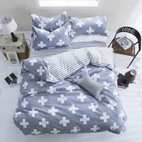 NEW Cross Single Double Queen King Size Bed Set Pillowcase Quilt Duvet Cover