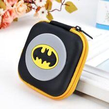 Batman Yellow Cartoon Kids Boys Girls Rubber Coin Purse Wallet Headset Bag Gift