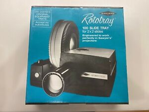 Vintage Sawyer New Rototray 100 Slide Tray for Projector 2X2 Slides Sealed Box