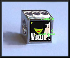 MUSICAL WICKED EUROPEAN PHOTO BEAD CHARM SHINY SILVER PLATED (TWO PHOTOS )