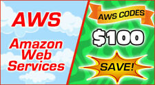 AWS Credit Code $100 Amazon Web Services AWSEDUCATE100CY21_0501
