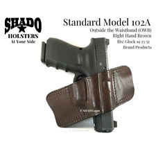 SHADO Leather Holster Model 102A RH Brown OWB fits Glock 19 23 32 Brand Products