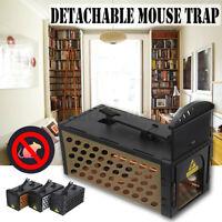 Rat Mouse Trap Catcher Humane Live Reusable Pest Rodent Mice Vermin Bait Cages