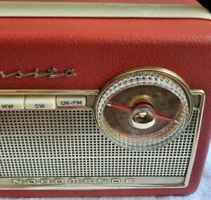 Nordmende Transita K-Z081-Korallenrot - Kofferradio 1961 - RESTAURIERT! SPIELT!