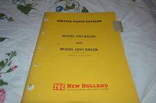 New Holland 290 Baler Dealer's Parts Book Manual DCPA5
