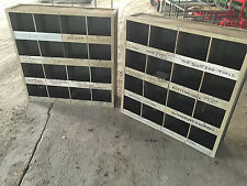 OLDER STYLE 16 PIGEON HOLE RACK , WITH ADJUSTABLE DIVIDERS