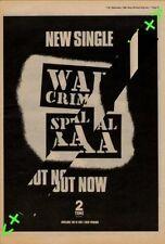 Special AKA War Crimes Advert NME Cutting 1982
