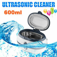 Stainless Steel Ultrasonic Cleaner Sonic Bath Tank Jewelry Glasses Watches Rings