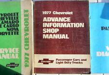 1977 CHEVROLET ADVANCE INFORMATION SHOP MANUAL PASSAGERS + LIGHT DUTY TRUCK