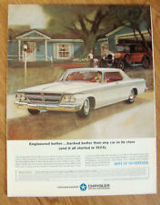 1964 Chrysler 300  Ad Engineered Better Started 1924 Chrysler