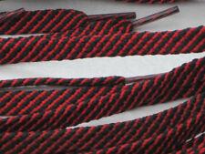 Lacci Stivale Nero/Rosso 150cm x 3 PAIA 16/20 Eye DR/M/A RULLO Stivali hicking/Boots