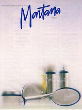 PUBLICITE ADVERTISING 064  1985  MONTANA    ligne parfumée douceur de la peau