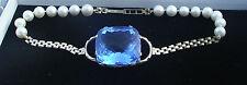 Estate Vintage Huge 100 carat + Quartz & 9-10 mm Pearl 9k gold Choker Necklace