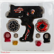 BEYBLADE METAL FUSION Black Hybrid Wheel Fight Attack Double Launcher+2 Beyblade