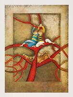 "Mountain Lion Vintage Lithograph Puma artist Graciela Rodo Boulanger - 18"" x 24"""