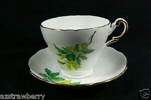 Regency made in England Bone China green Floral Tea Cup & Saucer set