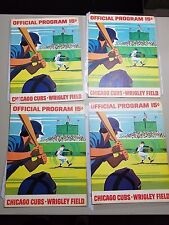 1971 Cubs SCORED program scorecard Lot of (4) : Reds, Expos, Dodgers, Pirates