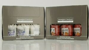 18 X YANKEE CANDLE VOTIVE 49g APPLE CINNAMON CIDER OR SPARKLING HOLIDAY FREE P+P