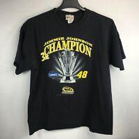 Chase 2008 NASCAR Jimmy Johnson 48 3 Times Champion Lowes Racing T-Shirt Sz XL