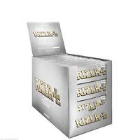 5 10 25 50 BOOKLET GENUINE RIZLA REGULAR SILVER STANDARD CIGARETTE ROLLING PAPER