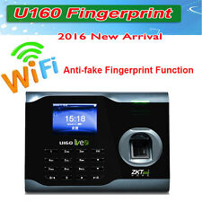 U160-C fingerprint reader Time & Attendance time clock W/ TCP/IP Ethernet ports