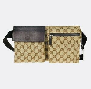 GUCCI Monogram GG Fanny Pack Belt Bag / M280-2123