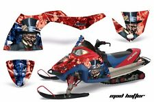 AMR Racing Sled Wrap Polaris Fusion Snowmobile Graphics Kit 2005-2007 HATTER BLU