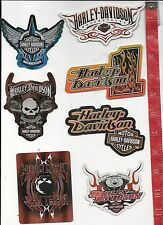 7 different Harley Davidson prismatic Stickers 1 - 7 FREE SHIPPING