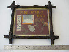 1899 American Memorial to Deceased Child Embroidered with photo original frame