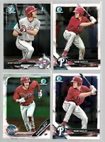 2017 2018 2019 Bowman Chrome ADAM HASELEY rookie Lot philadelphia phillies Draft