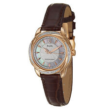Bulova 98R152 Precisionist Brigtwater 20 Diamond Accented Rose Gold Ladies Watch
