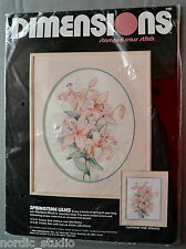 "Dimensions SPRINGTIME LILIES Stamped Cross Stitch Kit #3090, 11"" x 14"""
