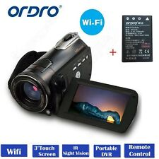 "ORDRO D395 1080P Digital Video Camera  24MP 18× Zoom 3.0"" LCD w/ NP-40 Battery"
