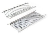 Emuca Stainless Steel Dish Drying Rack for Standard Kitchen Cabinet / 45-100cm
